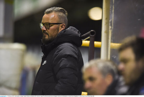 Cobh boss Stephen Henderson. Picture: Ben McShane/Sportsfile