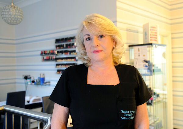 Susan Ryan of the Susan Ryan Beauty Clinic, South Main Street. Ms Ryan is the head of the newly-formed Cork City Traders Association.Picture Denis Minihane.
