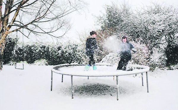 Snow Day! Senan & Fionn O'Toole in the snow in Whitegate