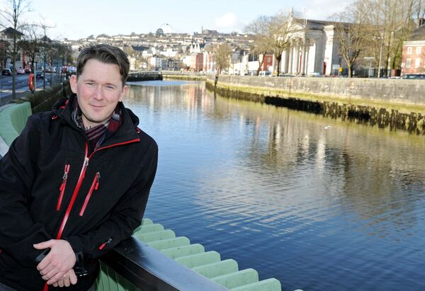 Shane Casey, aka Billy Murphy of the Young Offenders, pictured by the River Lee near Cork Opera House where he will be starring in the play, Wet Paint, from March 20th-23rd.Picture Denis Minihane.