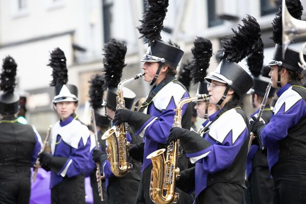 The Arvada West High School Wildcat Marching Band performing at the 2019 Cork St. Patrick's Day Parade which is organised by Cork City Council.Pic DARRAGH KANE