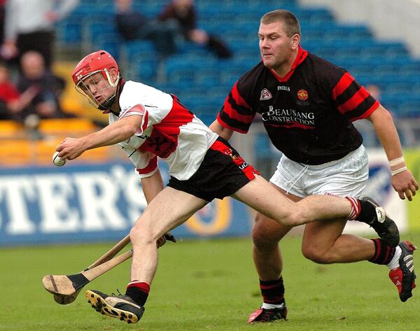UCC's Tommy Walsh challenged by Diarmuid O'Sullivan in 2005. Picture: Des Barry