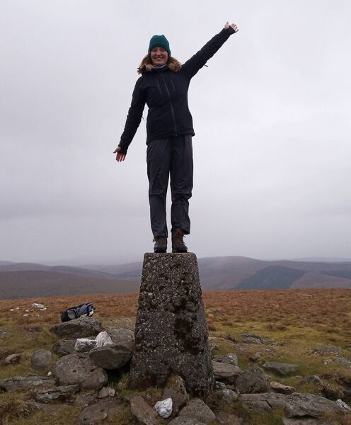 Clonakilty woman Clodagh Helen in Tyrone/Derry. She is aiming to climb the highest peak in each county by May 31.