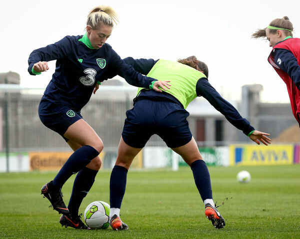 Megan Connolly at Irish training. Picture: INPHO/Ryan Byrne