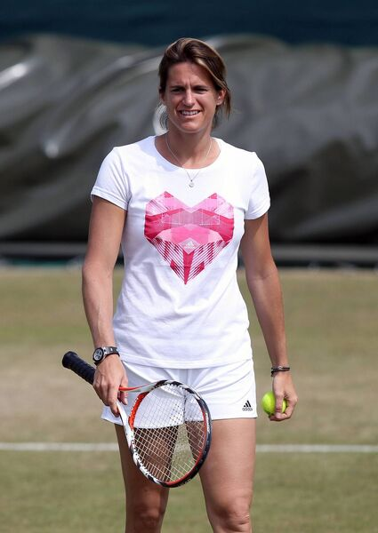 Andy Murray's coach Amelie Mauresmo.