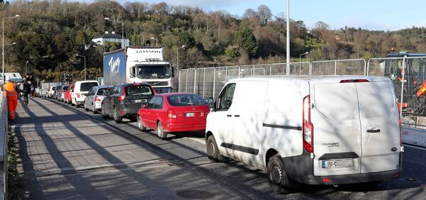 Eastgate Industrial Estate Little Island, traffic problems, at the Little Island Flyover. Picture: Jim Coughlan.