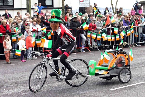 Participants in a previous St Patrick's Day parade in Cobh. Picture: Cillian Kelly