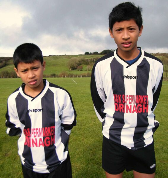 Denzil Fernandes (right) pictured with his brother Daniel when they played U14 for Drinagh.
