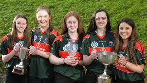 Sacred Heart camogie stars are honoured at Rebel Óg awards for their All-Ireland victory