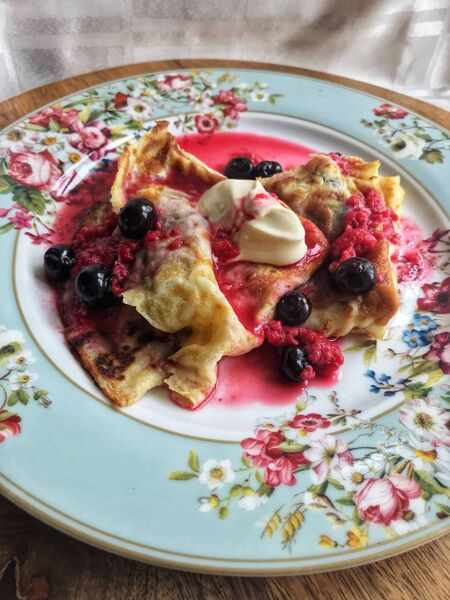 Sweet Berry Pancakes. Picture: Di Curtin