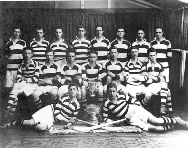 The PBC team with the Dr O'Callaghan and Dr Cohalan Cups in 1926.