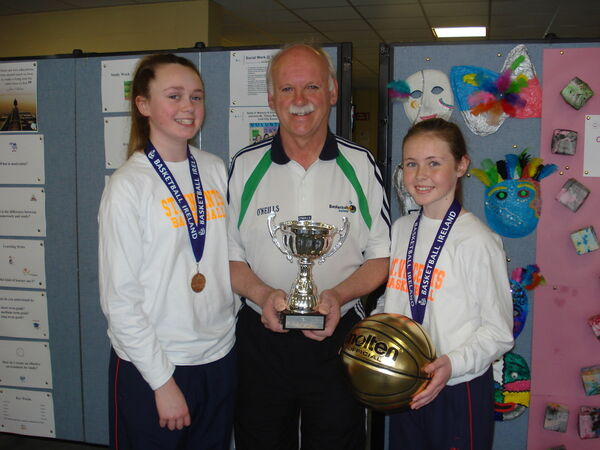 Zoe Mulcahy with coach Dommie Mullins and Eve Hannigan, back in 2015.