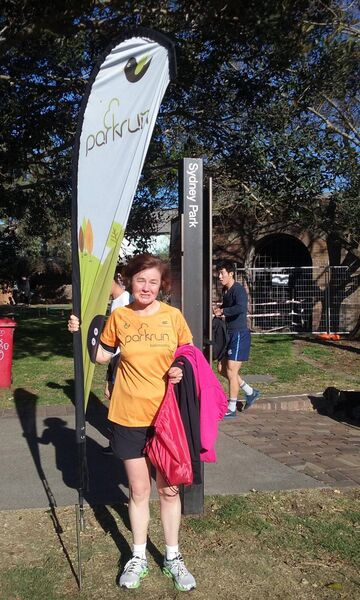 Colette Ryan, who has run 136 parkruns and is aiming for her 150th.