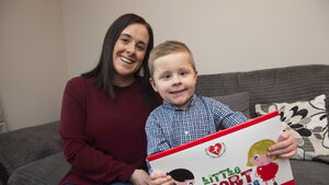 Cayden's a poster boy raising vital funds for charity