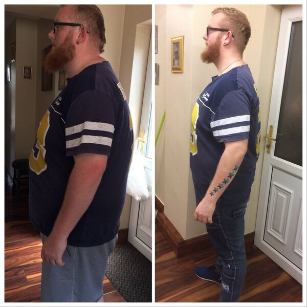 Eoin, who was 28 stone. In just 26 weeks he has lost 7 of the 12 stone that he wants to lose.