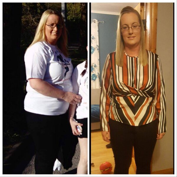 Laura Bracken, who has lost 2 stone 12 pounds, with just a little over 1 stone left to lose until she reaches her target.