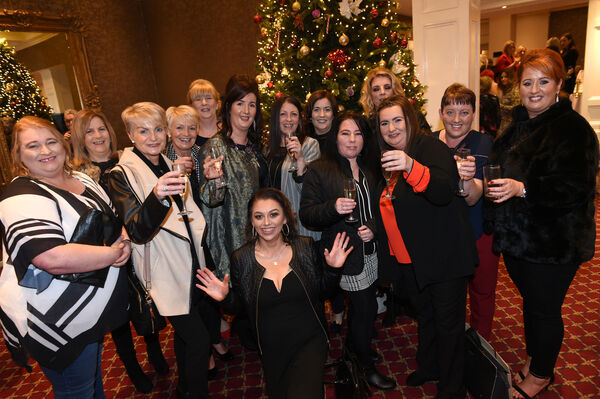 Some of those attending the Nollaig na mBan Women's Little Christmas with 'Abba' and 'Tina Turner' tribute acts yesterday at The Metropole Hotel, MacCurtain Street.	Picture: Larry Cummins