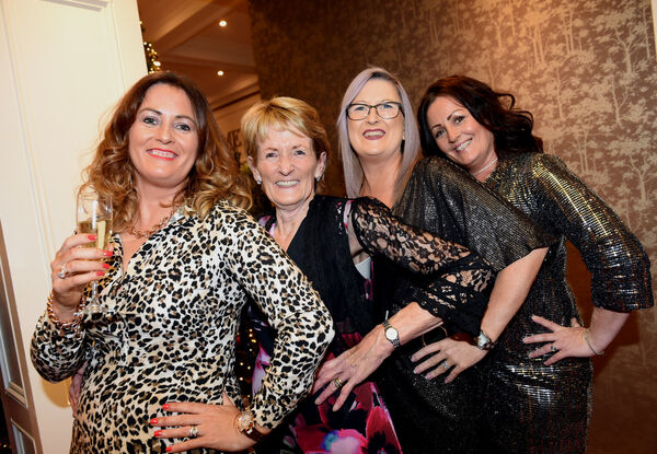 Nollaig na mBan Women's Little Christmas at The Metropole.Marie Casey, Togher with daughters Caroline, Janice and Shirley making it a special girl's night out.Pic; Larry Cummins
