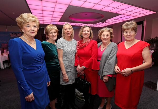 Mary Burke, Carrignavar, Sheila Hayes, Tower, Jacinta Long, Frankfield, Moggy Somers, Cobh (spelling of Moggy OK), Mary Murphy, Frankfield and Kathleen Clark, Grange, at the Women's Little Christmas Ladies Lunch & Fashion Showcase in aid of Breakthrough Cancer Research, at the Cork International Hotel, Airport Business Park, Cork.Picture: Jim Coughlan