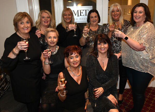 Nollaig na mBan Women's Little Christmas on Sunday 6th January at The Metropole.Ladies from Debenhams Mahon Point enjoying a night out.Pic; Larry Cummins