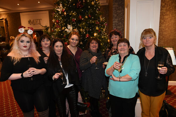 Nollaig na mBan Women's Little Christmas on Sunday 6th January at The Metropole.Aishling and Breda Walsh, Melissa Roche, Caitlin and Mary Walsh, Pauline Walsh, Breda Walsh (snr) and Veronica Hennessy, all from Knocknaheeny.Pic; Larry Cummins