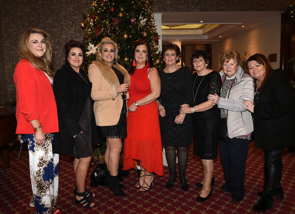 Nollaig na mBan Women's Little Christmas at The Metropole Hotel.Audrey Delaney, Joy Crowley, Celine and Charlotte O'Driscoll, Catherine Delaney, Jenny McCarthy, and Eileen and Regina Leahy. Pic; Larry Cummins