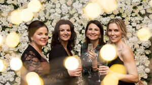 Pictures: Weekend whizz and fizz as girls toast Women's Little Christmas