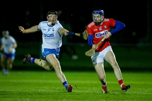 Cork's Cormac Murphy with Kevin Moran of Waterford. The Mallow native is attempting to re-establish himself with the county. Picture: INPHO/Oisin Keniry