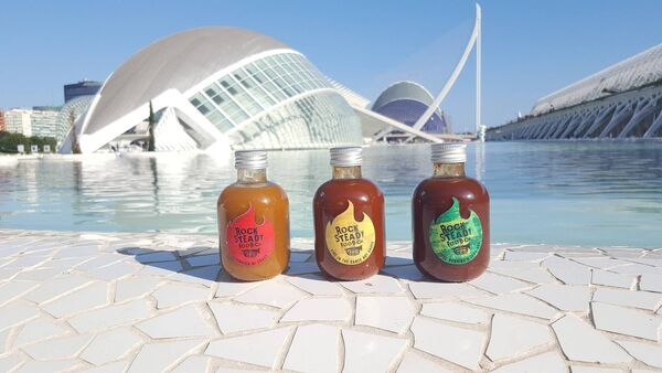 Rock Steady Food Co hot sauces.