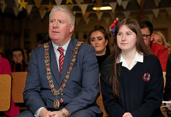 Lord Mayor Cllr Mick Finn with Anna Stack, creator of Anna's Dream World, during the launch. Picture: Jim Coughlan.