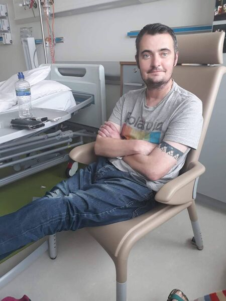 IN RECENT MONTHS: Derek O'Sullivan, after the transplant — he is now enjoying running and cycling.