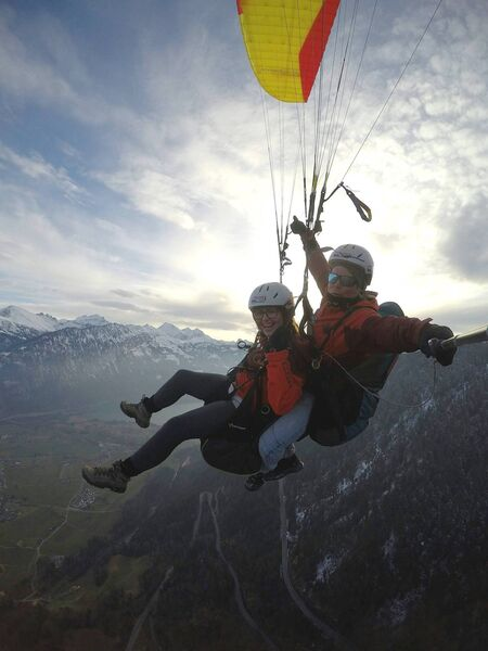 Paragliding over Interlaken, Switzerland Pic: Kelly O'Brien