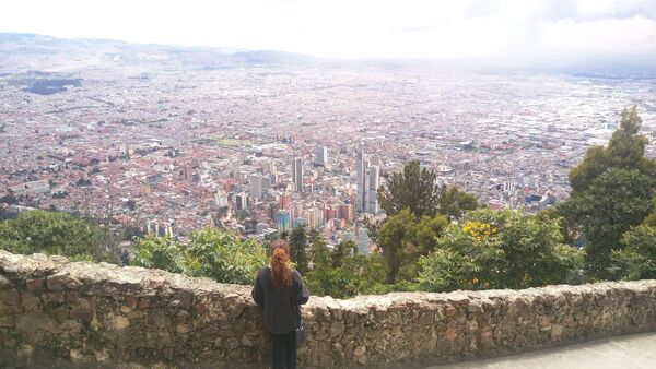 Journalist Kelly O'Brien pictured overlooking Bogota, the capital of Colombia. Pic: Kelly O'Brien