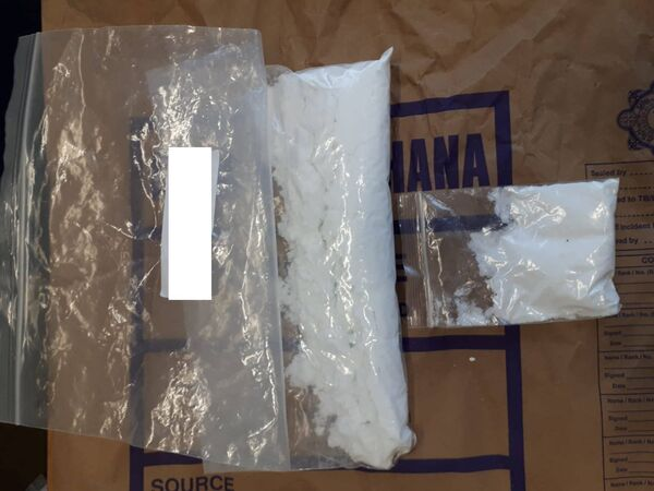 Cocaine, ecstasy tablets and LSD were uncovered at a house in Grattan Street today. Pic: An Garda Siochána