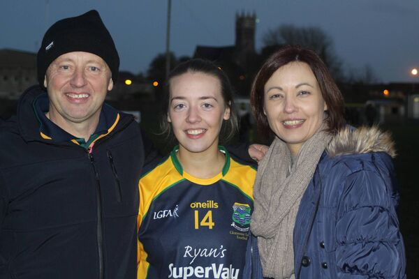 Kate Hannon with father Michael and mother Winifred