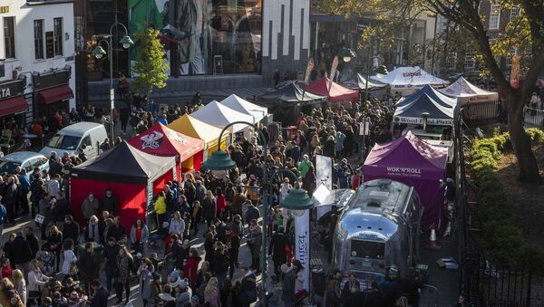 Crowds enjoying the market in Emmet Place.Picture: Clare Keogh