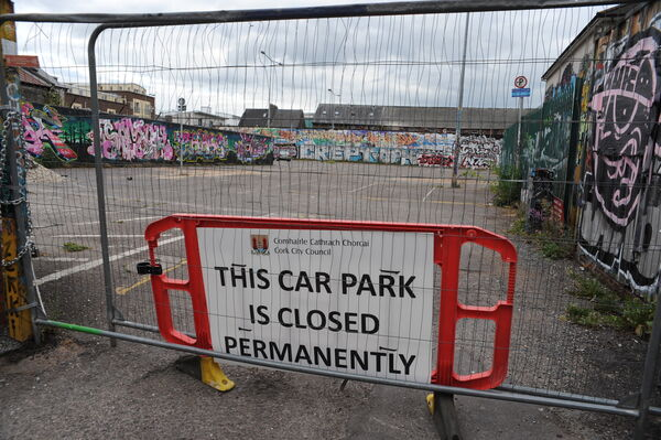 White Street car park has now closed ahead of the construction of a new social housing project with the search underway for a new street art location. Photo: Billy macGill