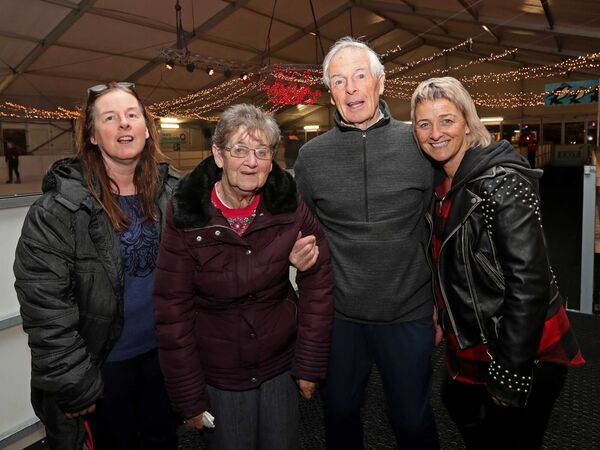 Michael Finnegan, from Ballyvolane with his wife Eileen and daughters, Majella and Valerie. Picture: Jim Coughlan.
