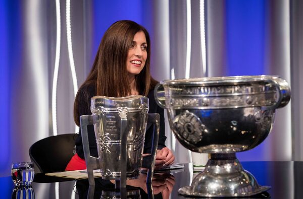 Joanne Cantwell on The Sunday Game. Picture: INPHO/Ryan Byrne
