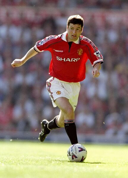 Denis Irwin with Manchester United. Picture: INPHO/Allsport