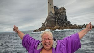 Marie is the first person to swim from Mizen to Fastnet Rock