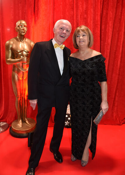 Paddy O'Brien and Betty Duncliffe, at the Lord Mayor's Charity Ball, Oiche na Scannain ( A Night at the Movies) at City Hall, earlier this year. Picture: Larry Cummins