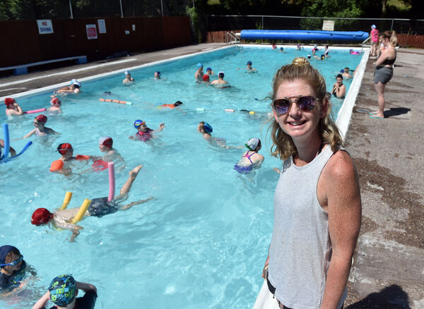 Alison O'Keeffe , treasurer at the community run outdoor swimming pool.Picture: Eddie O'Hare