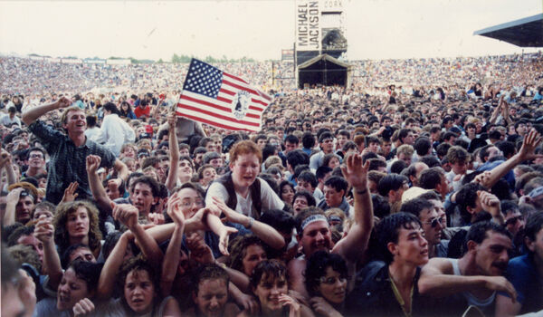Fans show their enthusiasm for Michael Jackson at his 1988 concert in Pairc Ui Chaoimh. Picture: Eddie O'Hare
