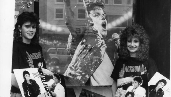 Michael Jackson fans in Cork ahead of his concert 30 years ago.