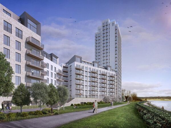 An image of planned development at Jacob's Island, Mahon. Pic: HW Planning