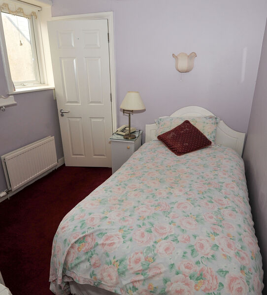 One of the bedrooms at Cuan Mhuire on Western Road. Picture: David Keane.