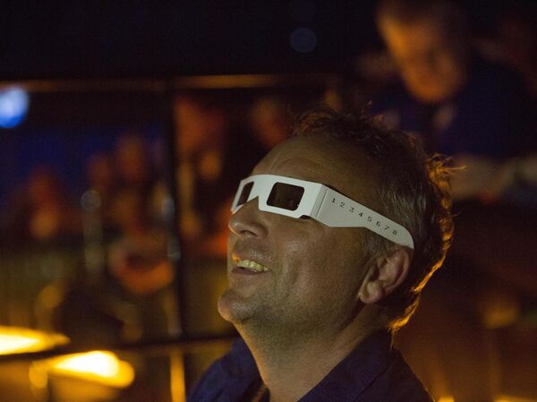 Fans enjoying the Kraftwerk live 3d show in Live At the Marquee Cork earlier this week.Pic Darragh Kane