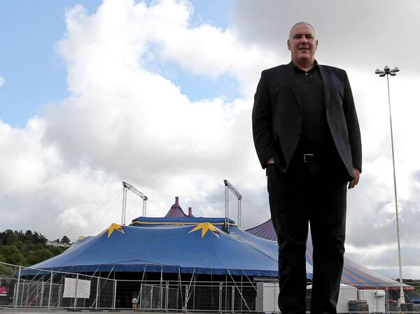 Peter Aiken, pictured outside the Marquee.Picture. Jim Coughlan.