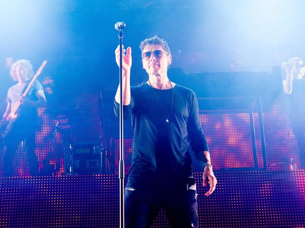 A-HA's Morten Harket performing live at the Marquee: the Norwegian band brought a huge midweek boost for city hotels.Pic Darragh Kane